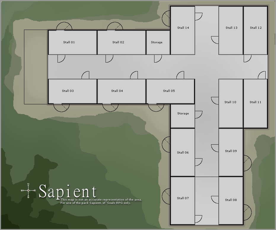 Building layout - nearby stables